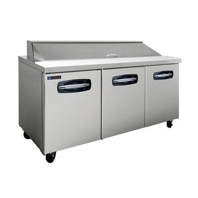 "Master-bilt MBSP7218 72"" Sandwich Prep Table w/ Refrigerated Base, 115v"