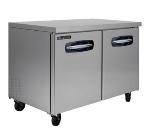 Master-bilt MBUR48 13-cu ft Undercounter Refrigerator w/ (2) Sections & (2) Doors, 115v