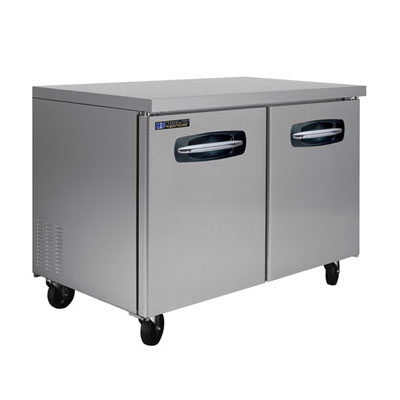 Master-bilt MBUR72 13-cu ft Undercounter Freezer w/ (2) Sections & (2) Doors, 115v