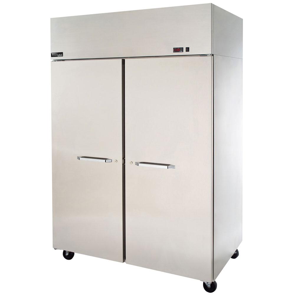 """Master-bilt MNR522SSS/0X 55"""" Two Section Reach-In Refrigerator, (2) Solid Door, 115v"""
