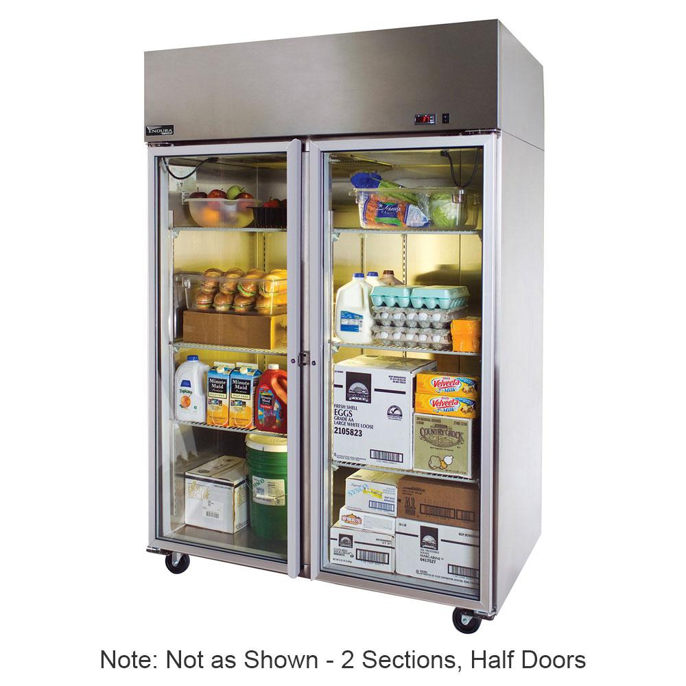 """Master-bilt MNR524SSS/0X 55"""" Two Section Reach-In Refrigerator, (4) Solid Doors, 115v"""