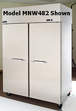 "Master-bilt MNW484SSS/8 55"" Reach-In Heated Cabinet - (4) Solid Half Door, 48.8-cu ft, Stainless"
