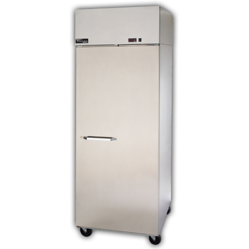 "Master-bilt MPR806SSG/0X 82.5"" Three Section Pass-Thru Refrigerator, (3) Glass Door, 115v"