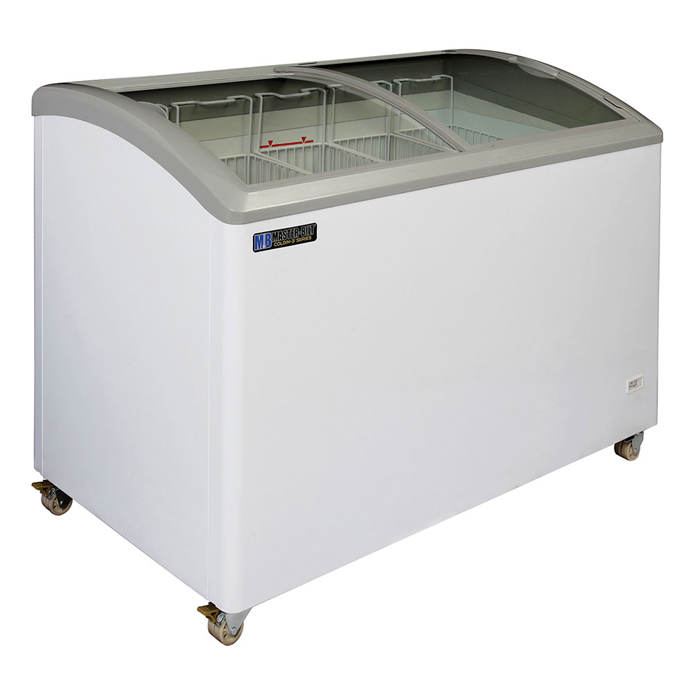 "Master-bilt MSC-49A 49"" Mobile Ice Cream Freezer w/ 5 Baskets, Mobile, White, 115v"