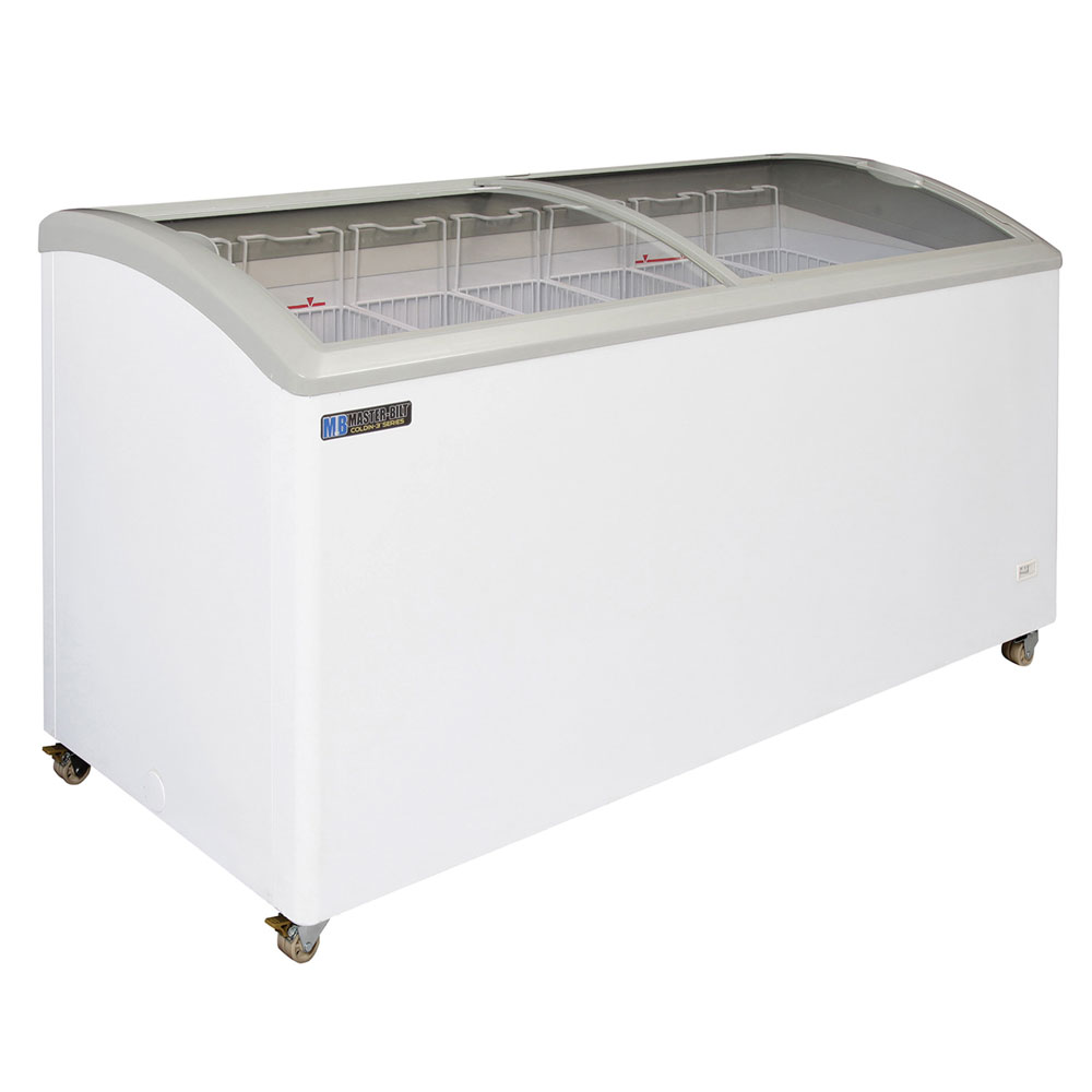 "Master-bilt MSC-66A 66.5"" Mobile Ice Cream Freezer w/ 6 Baskets, Mobile, White, 115v"