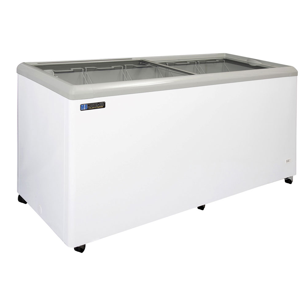 "Master-bilt MSF-71A 71"" Mobile Ice Cream Freezer w/ 5 Baskets, Mobile, White, 115v"