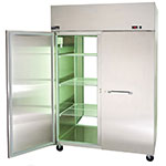 "Master-bilt MWR722SSS/0X 63.5"" Two Section Roll-In Refrigerator, (2) Solid Door, 115v"