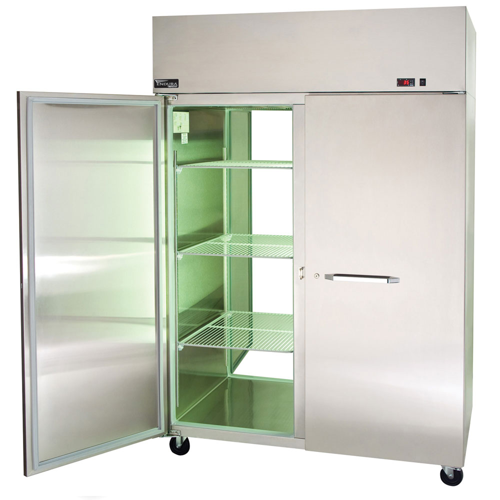 """Master-bilt MWR722SSS/0X 63.5"""" Two Section Roll-In Refrigerator, (2) Solid Door, 115v"""