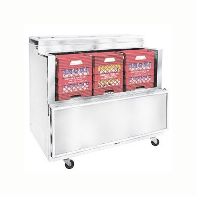 Master-bilt OMC-082-A Milk Cooler w/ Top & Side Access - (864) Half Pint Carton Capacity, 115v