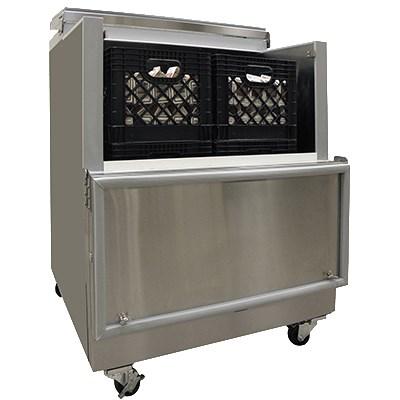 Master-bilt OMC-082-SS-A Milk Cooler w/ Top & Side Access - (864) Half Pint Carton Capacity, 115v