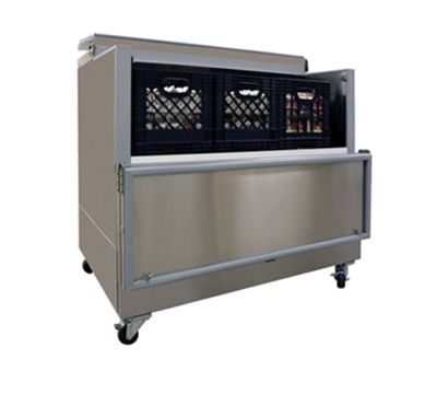 Master-bilt OMC-122-A-SS Milk Cooler w/ Side Access - (1368) Half Pint Carton Capacity, 115v