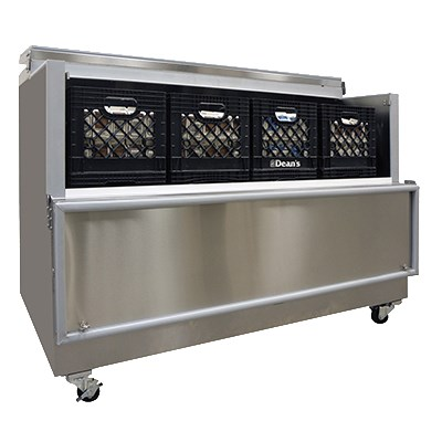 Master-bilt OMC-162-SS-A Milk Cooler w/ Top & Side Access - (1800) Half Pint Carton Capacity, 115v