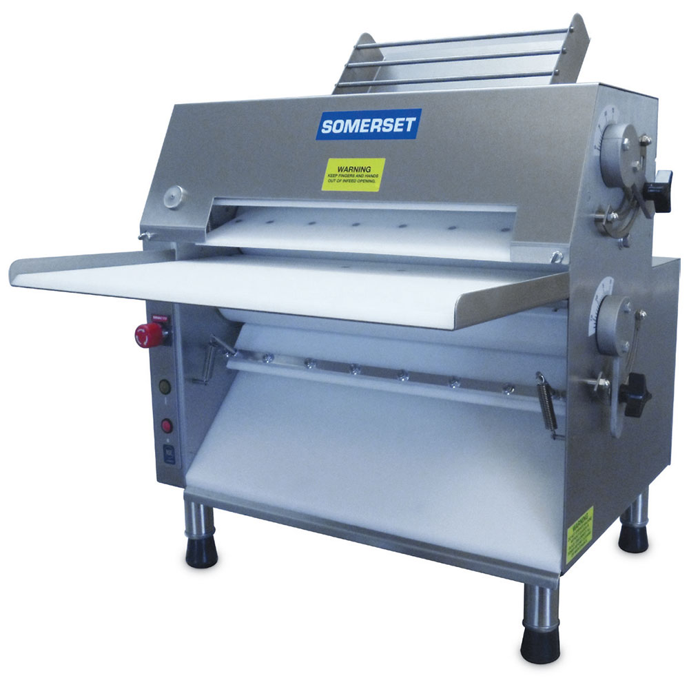 Somerset CDR-2000 115 Dough Roller w/ 600-Piece/Hr Capacity, Stainless, 115V