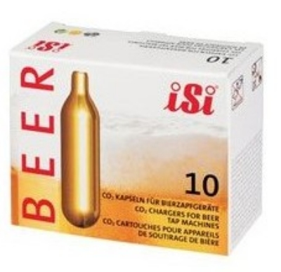 ISI North America 0216 CO2 Beer Chargers 40 10 Packs Per Case Restaurant Supply