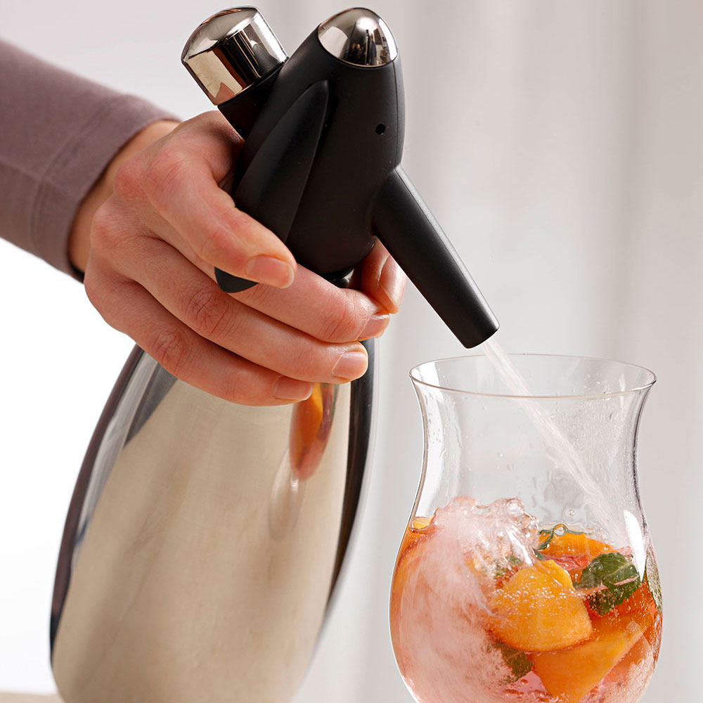 iSi 1004 26-oz Soda Siphon - Stainless Steel