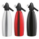 iSi 2265 Soda Siphon Starter Kit w/ Red, Black, & Aluminum Siphon & Chargers