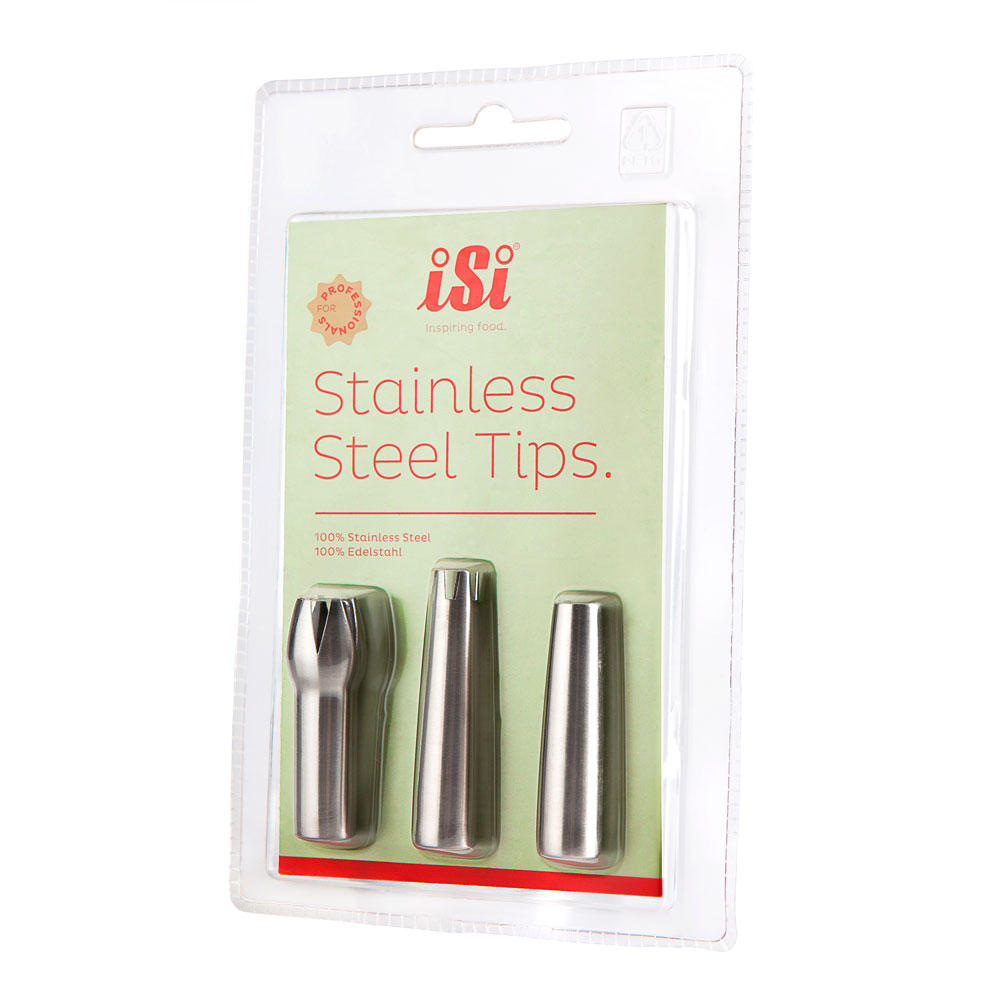 iSi 2712 Stainless Steel Tip Set w/ Straight, Tulip & Star