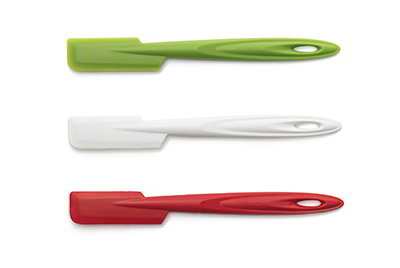 ISI B101 65 Flexible Silicone Slim Spatula Set w/ Assorted Colors