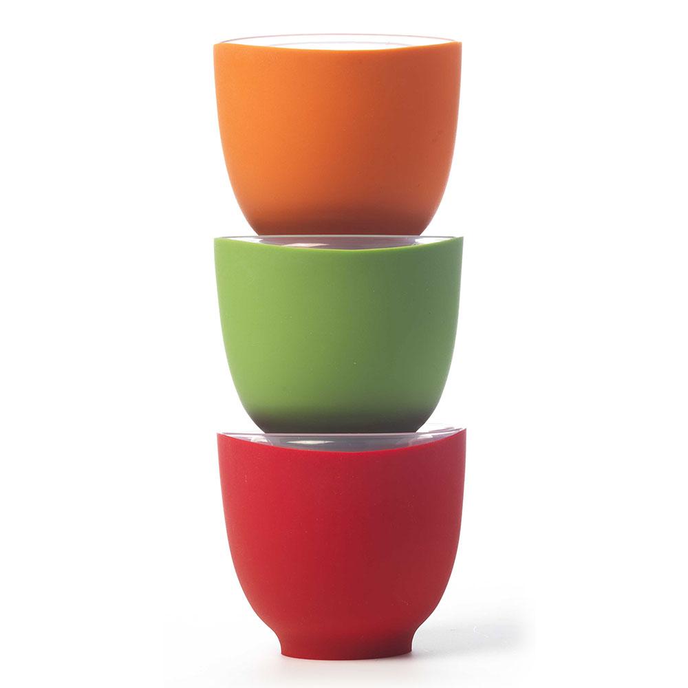 iSi B250 65 Prep Bowl Set w/ (3) 2-cup Bowls & Lids, No Drip Lip, Assorted Colors
