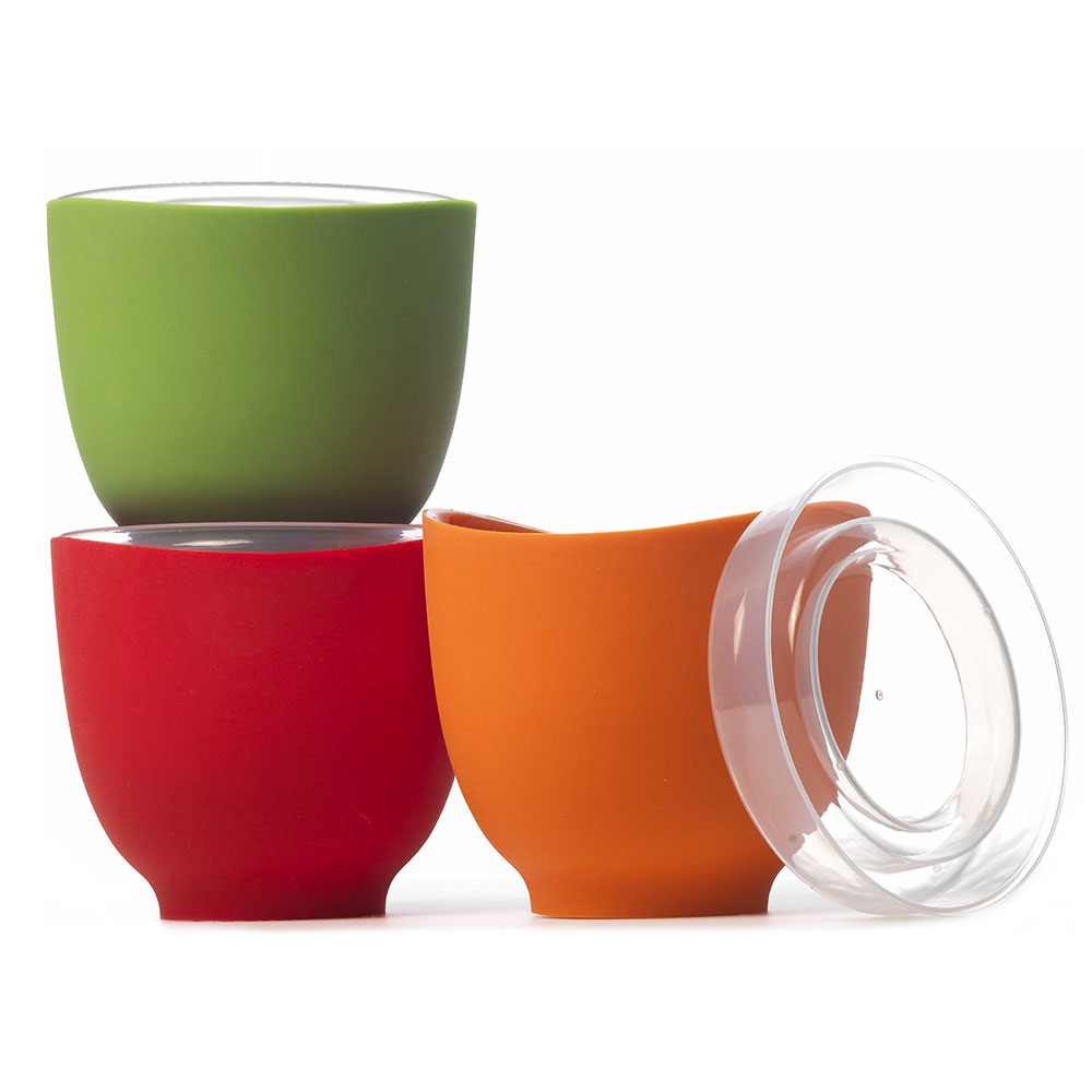 Isi B250 65 Prep Bowl Set w/ (3) 2-cup Bowls & Lids, No Drip Lip, Assorted Colors