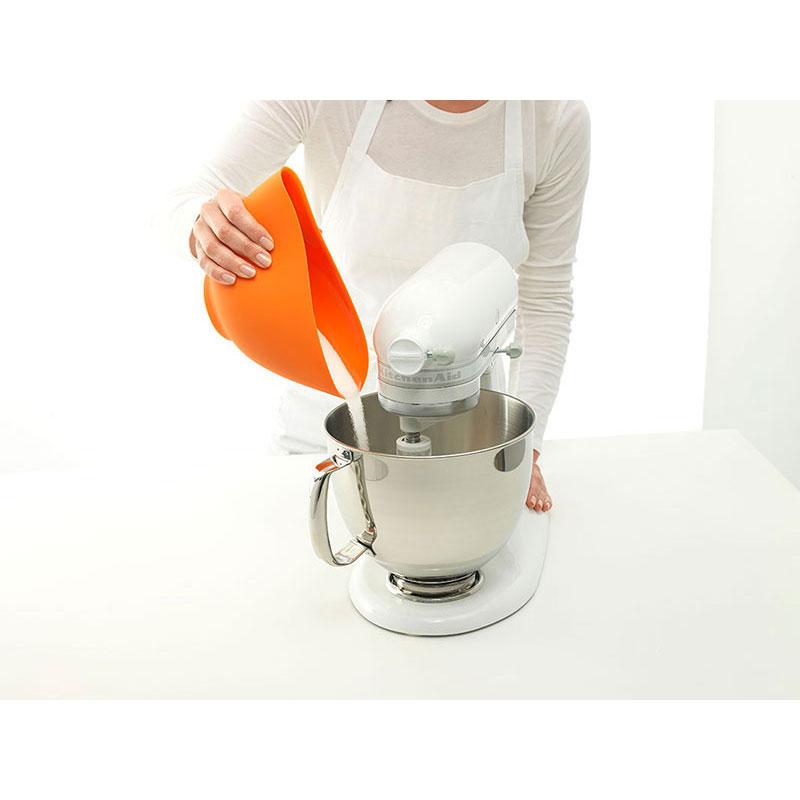 iSi B251 06 Flexible Mixing Bowl Set w/ 1-qt, 1.5-qt & 2-qt Capacity, Form Anywhere Spout, Orange