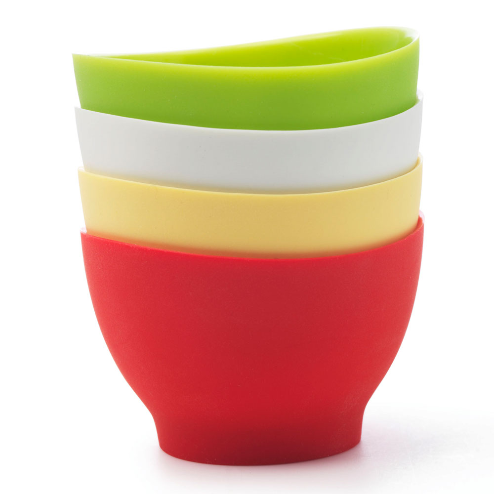 iSi B25565 Pinch Bowl Set w/ (4) 2-oz Bowls & No-Drip Lip, Assorted Colors