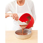iSi B260 01 1-qt Flexible Mixing Bowl w/ Secure Grip Texture & Form Anywhere Spout, Red