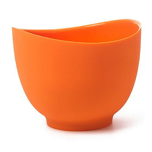 iSi B26006 1-qt Flexible Mixing Bowl w/ Secure Grip Texture & Form Anywhere Spout, Orange