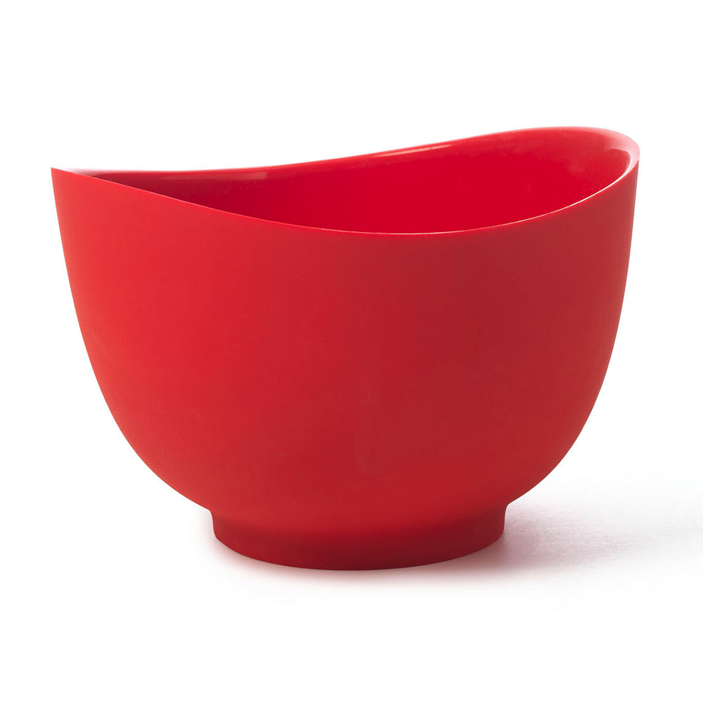 iSi B262 01 2-qt Flexible Mixing Bowl w/ Secure Grip Texture & Form Anywhere Spout, Red