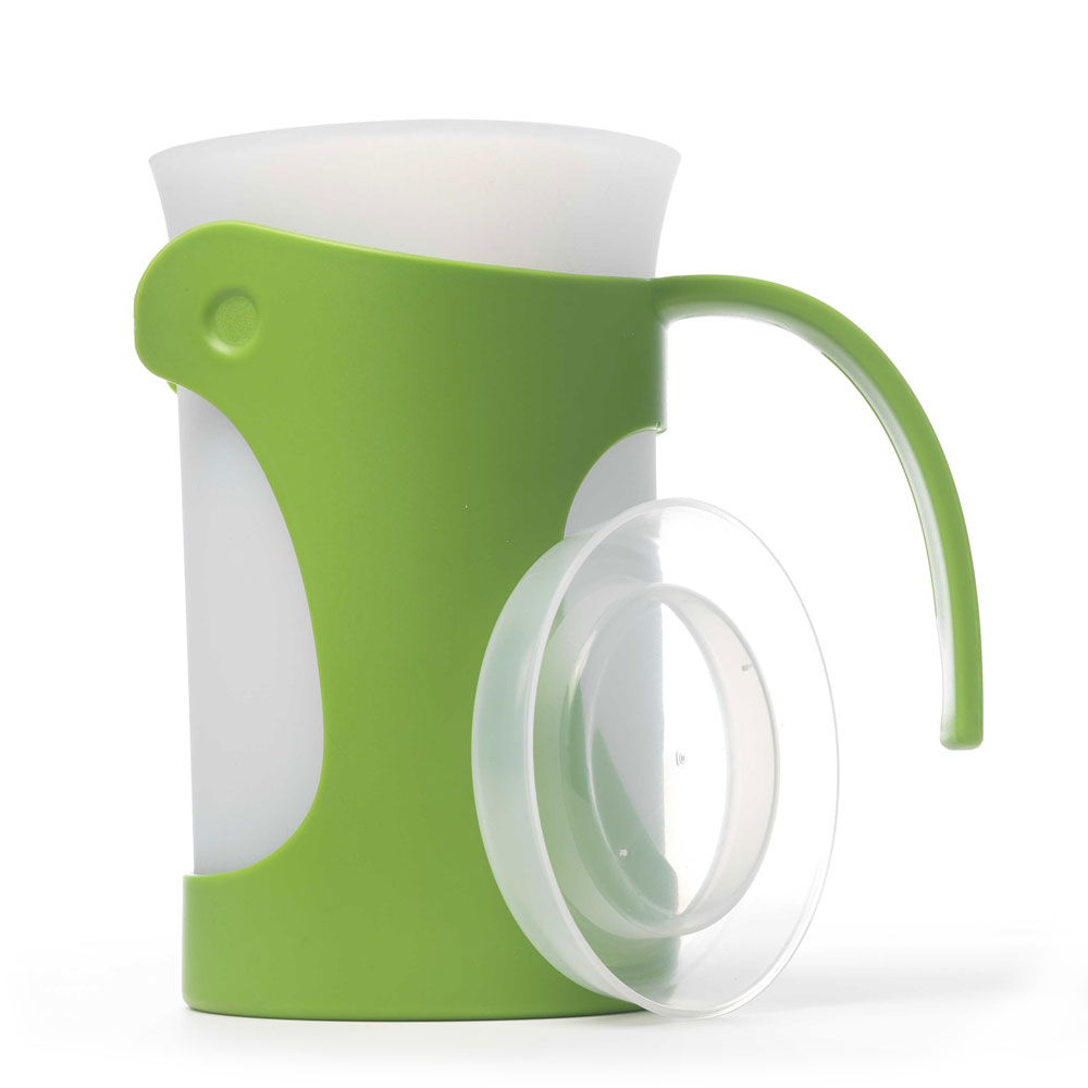 iSi B700 04 50-oz Pitcher w/ Ergonomic Handle & Silicone Liner, Lid, Wasabi