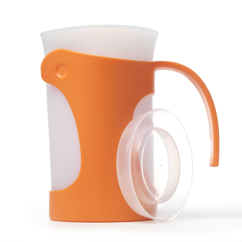 iSi B700 06 50-oz Pitcher w/ Ergonomic Handle & Silicone Liner, Lid, Orange