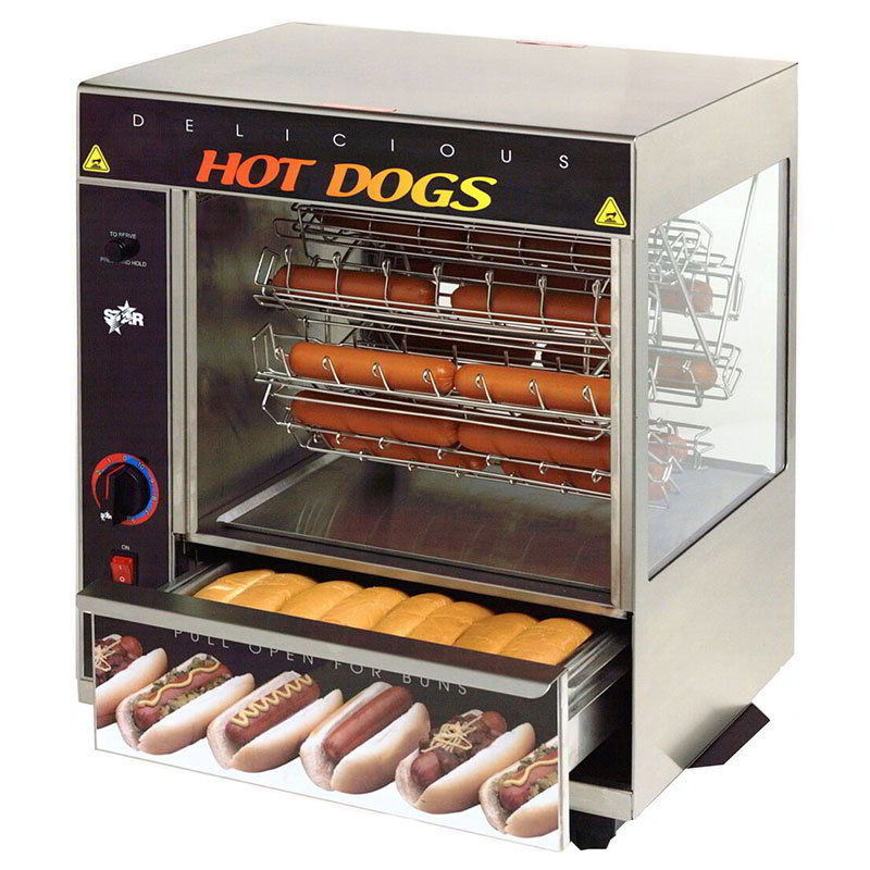 star 175cba hot dog broiler w bun warmer cradle type 36. Black Bedroom Furniture Sets. Home Design Ideas