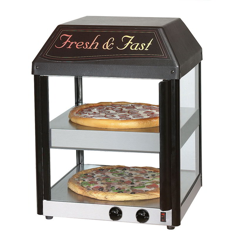 "Star 18MCPT Pizza Merchandiser, Pass-Thru, 18"", (2)16"" Pizzas"