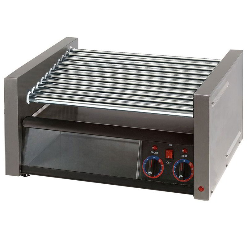 Star 30CBBC 30 Hot Dog Roller Grill w/Bun Storage - Slanted Top, 120v