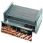 Star 30CBDE 30 Hot Dog Roller Grill w/Bun Storage - Slanted Top, 120v