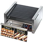 Star 30SCBD 30 Hot Dog Roller Grill w/Bun Storage - Slanted Top, 120v