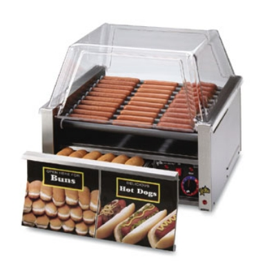 Star Manufacturing 30SCBD-230 Hot Dog Grill, Super Turn Rollers, 30 Hot Dog & 32 Bun, Export