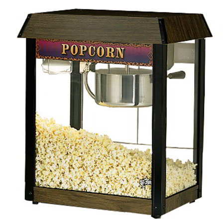 Star 39DA Popcorn Popper, 6 oz Kettle, (135) 1oz Servings, Wood Grain