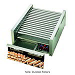 Star 45SCBD 45 Hot Dog Roller Grill w/Bun Storage - Slanted Top, 120v