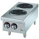 Star Manufacturing 502CF Countertop Hotplate - 2-Burner, Infinite Heat Control