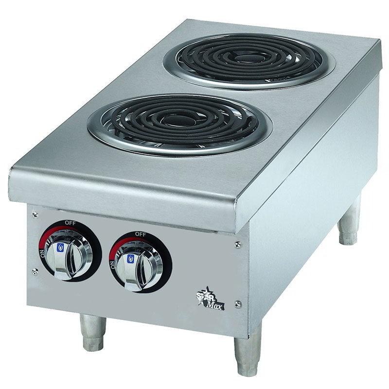 Star 502CF Countertop Hotplate - 2-Burner, Infinite Heat Control