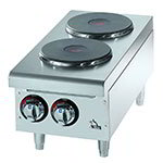 "Star 502FF 12"" Electric Hotplate w/ (2) Burners & Infinite Heat, 208-240v/1ph"