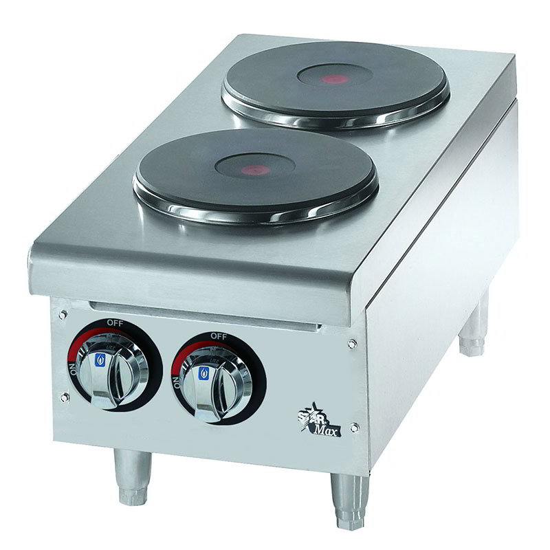 Star 502FF Hotplate - 2-Burners, Drip Pan, Solid French Style Top, Infinite Control