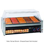 Star 50SCBBC 50 Hot Dog Roller Grill w/Bun Storage - Slanted Top, 120v