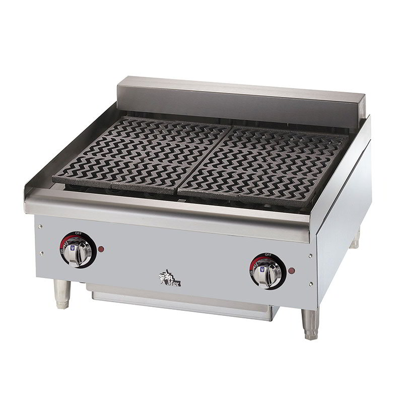 "Star 5124CF 24"" Charbroiler w/ Removable Cast Iron Grids & Water Pan, 208/3"