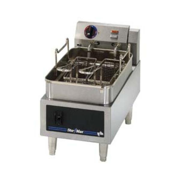 Star 515ED StarMax Fryer Electric Countertop 1 Fryer/Twin Baskets 15 lb 208/240 V Restaurant Supply