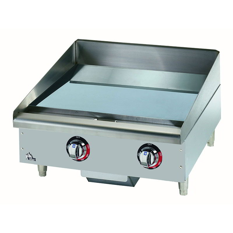 "Star 524CHSF 24"" Electric Griddle - Thermostatic, 1"" Chrome Plate, 208v/1ph"