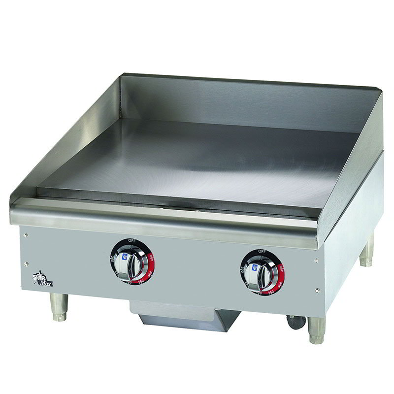 "Star Manufacturing 524TGF 24"" Griddle w/ 1"" Steel Plate, Thermostat Controls, 208/240/3v"