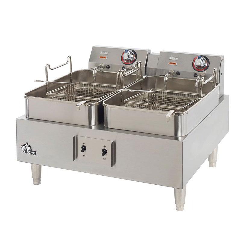 Star 530TEF Countertop Electric Fryer - (2) 15-lb Vat, 208v/1ph