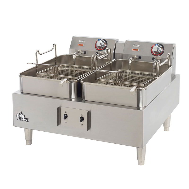 Star 530TEF CSA Countertop Electric Fryer - (2) 15-lb Vat, 208v/1ph